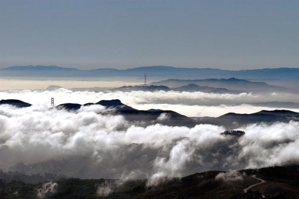 View of Foggy SF from Mt. Tamalpais #1