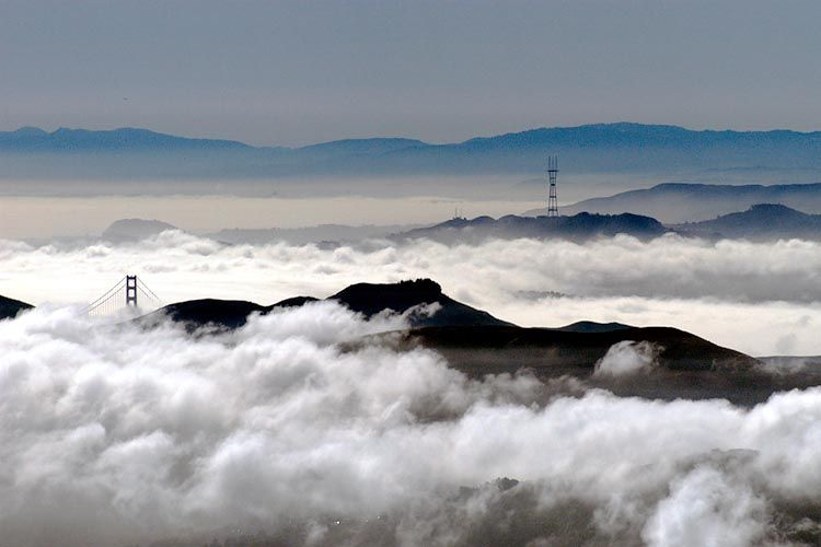 View of Foggy SF from Mt. Tamalpais #2