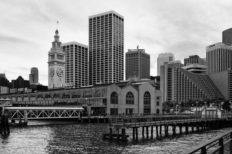 Ferry Building and Waterfront Skyline
