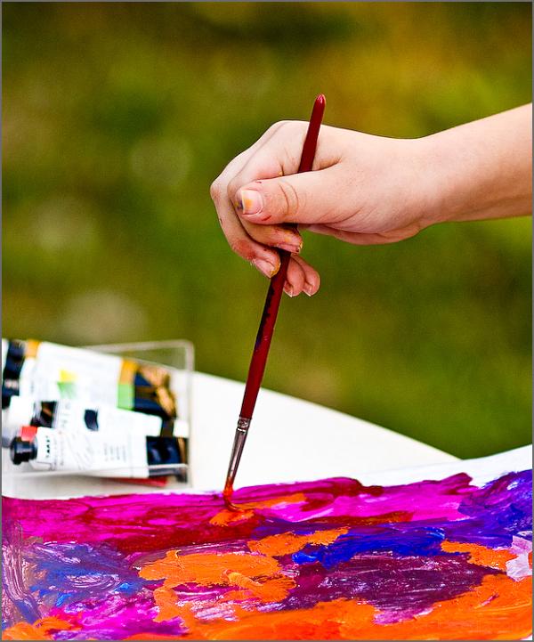 Pintant a Horta // Painting at Horta