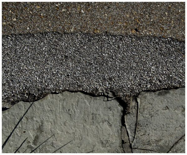 three surfaces on driveway