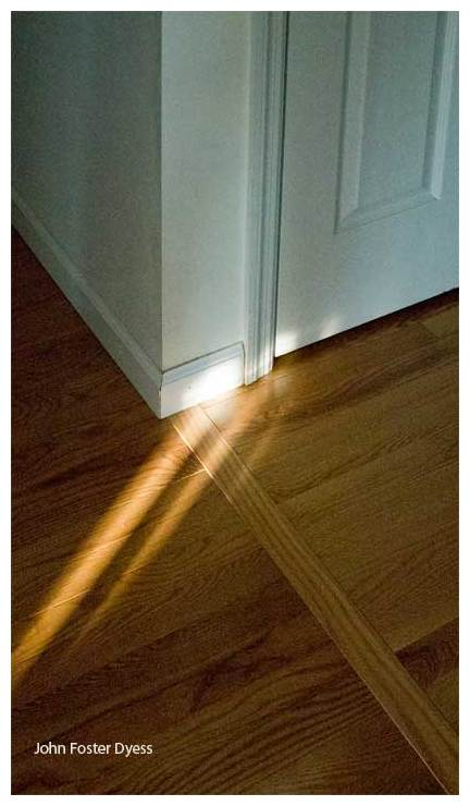 sunlight on a hardwood floor