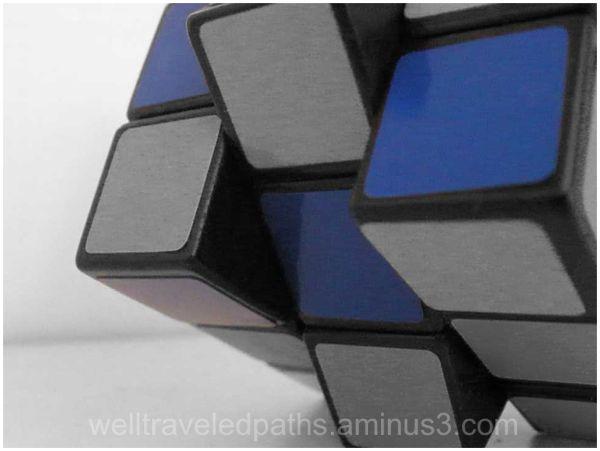 blue squares on a rubix cube
