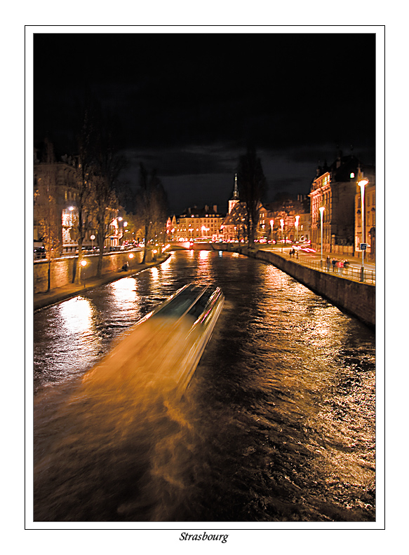 Strasbourg la nuit...