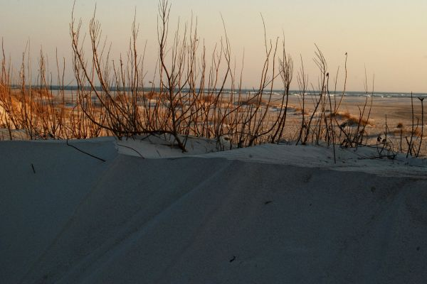 Topsail Island Point at sunset