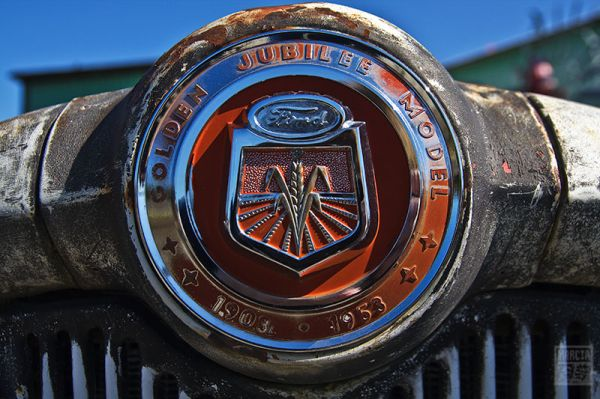 Insignia on Antique Tractor