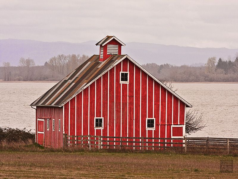 Red and White Barn