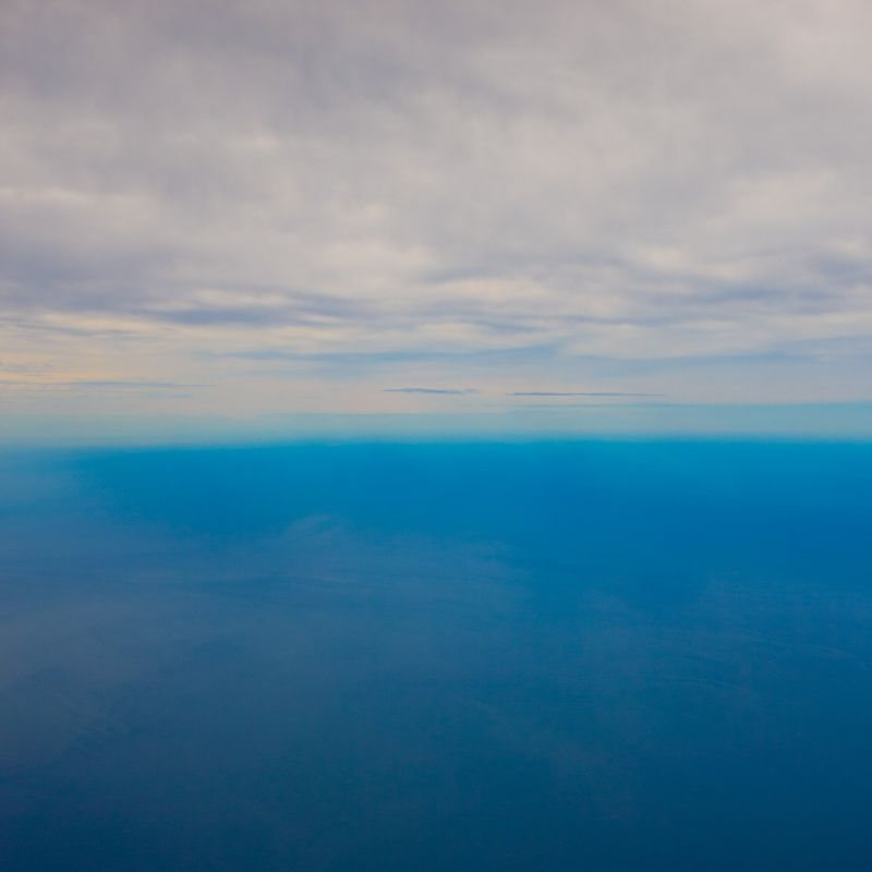 South Pacific from the Plane