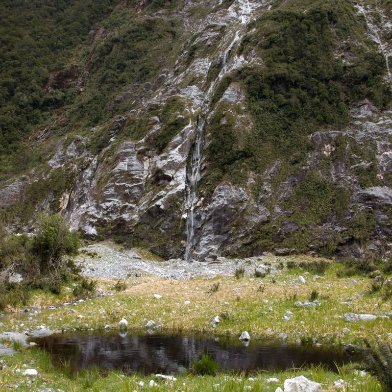 Waterfall on the Milford Track