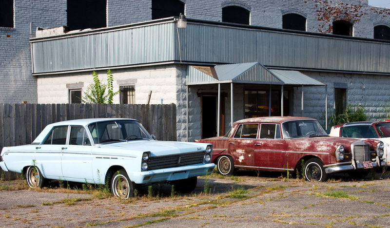 ford and mercedes which have seen better days