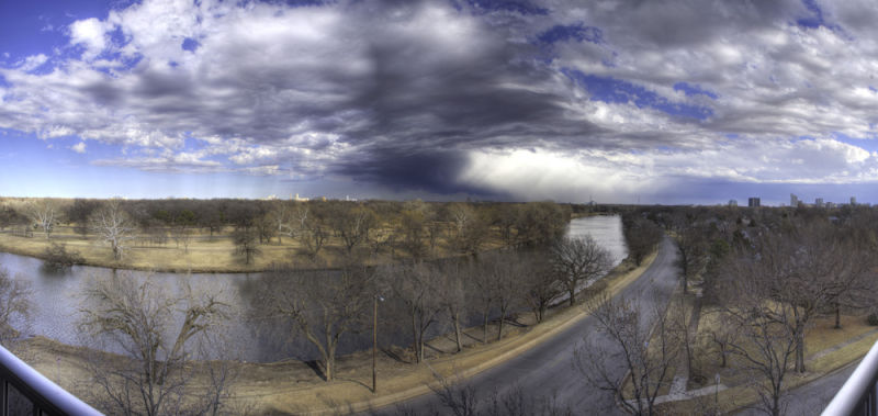 Organizing storm over Wichita Kansas