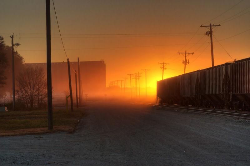 sunrise in the railyard