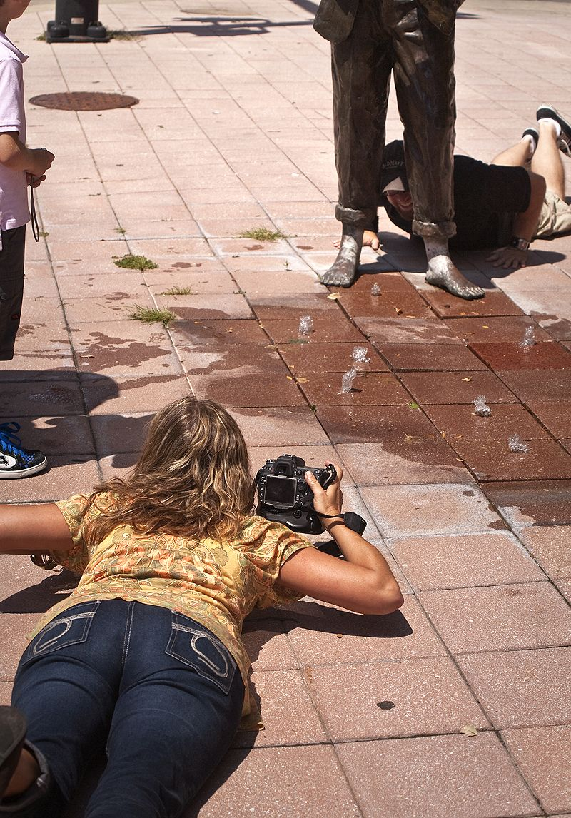photographers on the street in downtown wichita