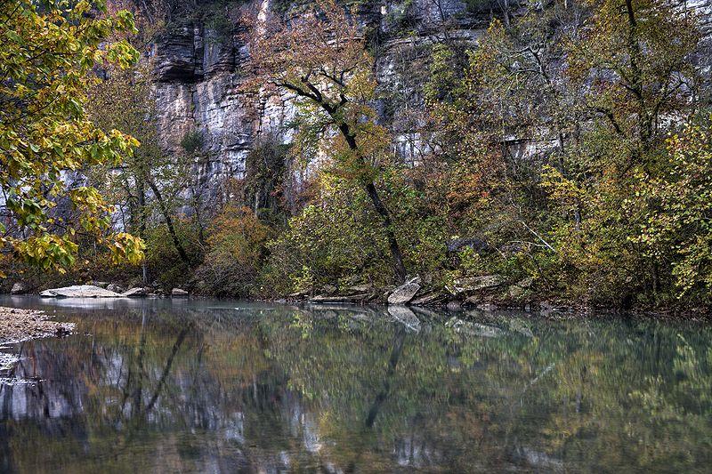 buffalo river bluffs in autumn