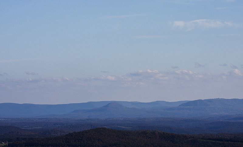 ozark mountains in afternoon light