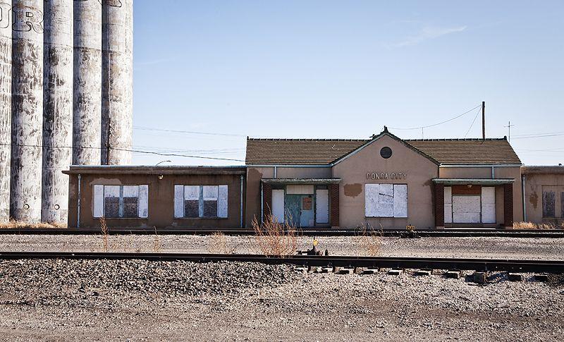 abandoned railroad station in ponca city oklahoma