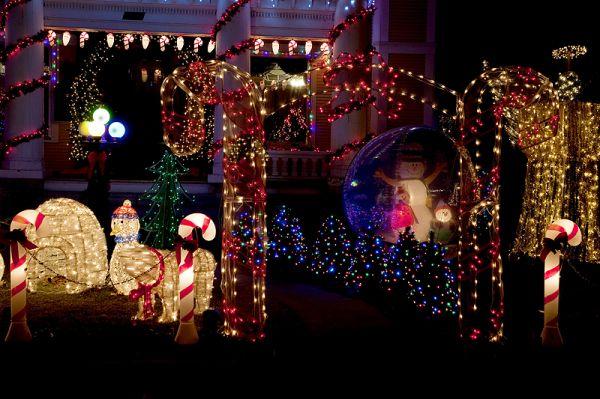 christmas lights detail