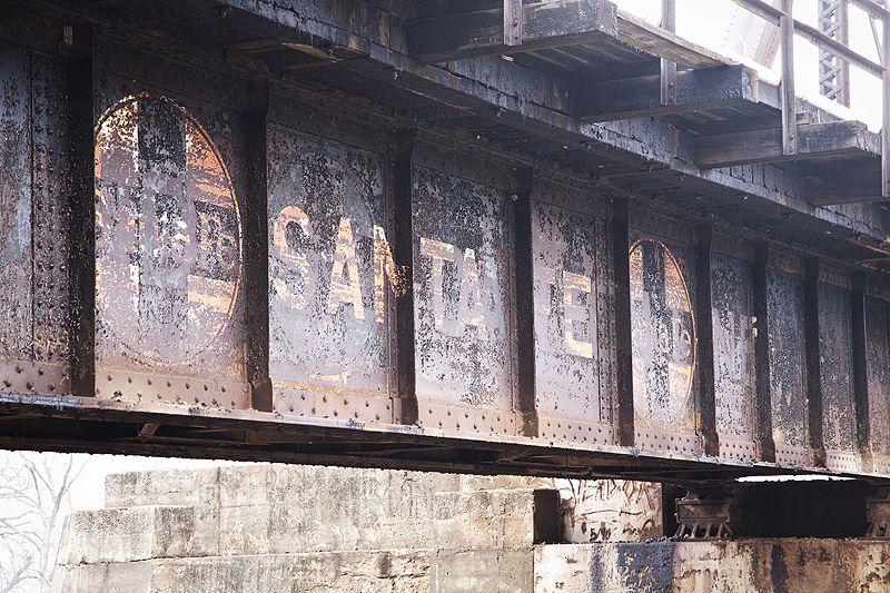 santa fe railroad bridge truss