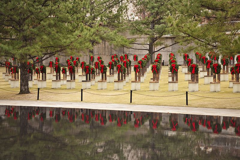 wreathes placed on the memorial chairs at memorial