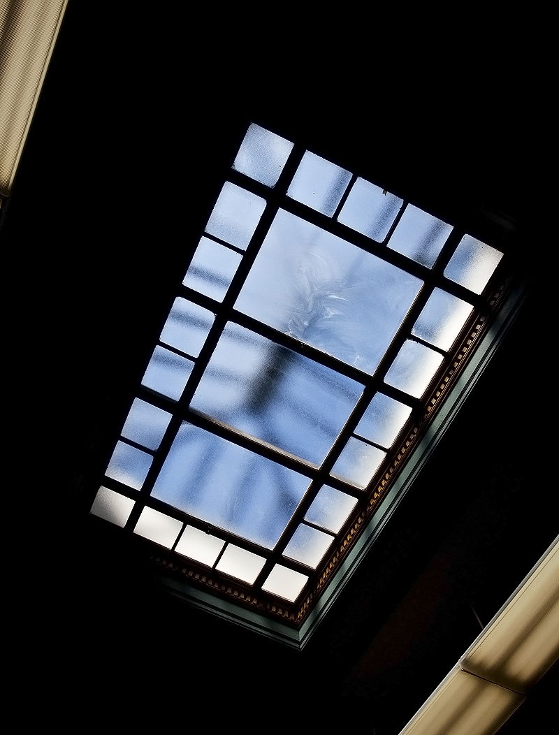 looking up at skylight