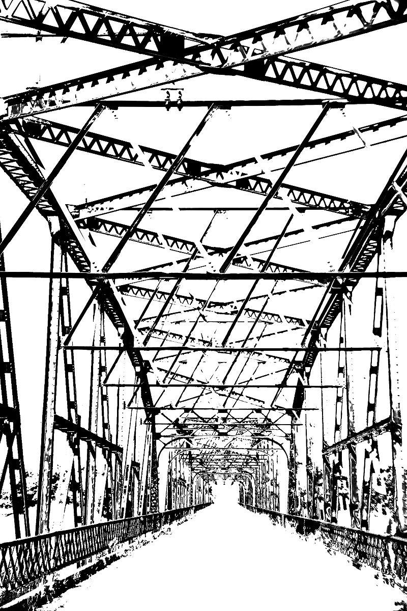 steel beam bridge