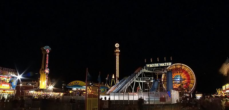 midway on a late summer night