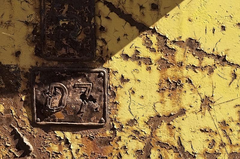detail of old caterpillar d7