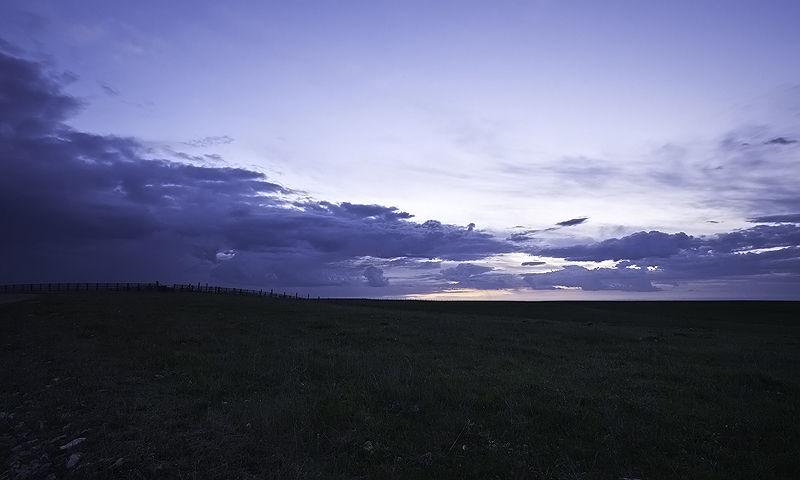sunrise on the plains