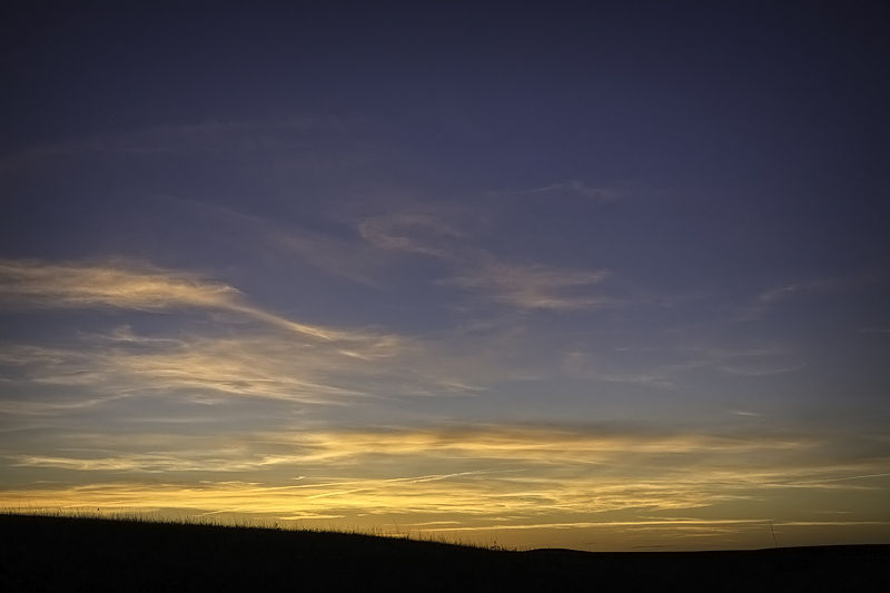 sunset at tallgrass national preserve