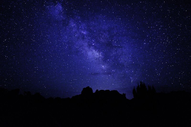 milkway from Arches National Park