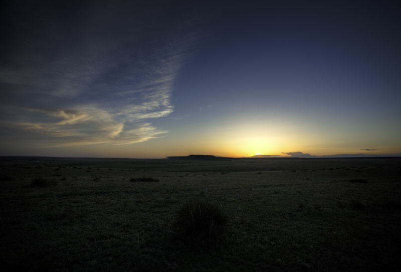 sun setting in northeastern new mexico