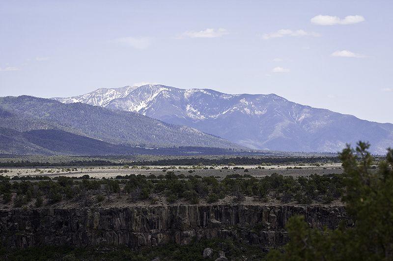 mountains beyond the rio grande gorge