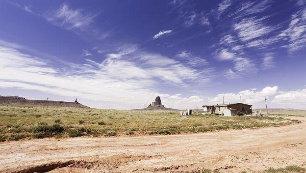 double wide in desert on navajo reservation