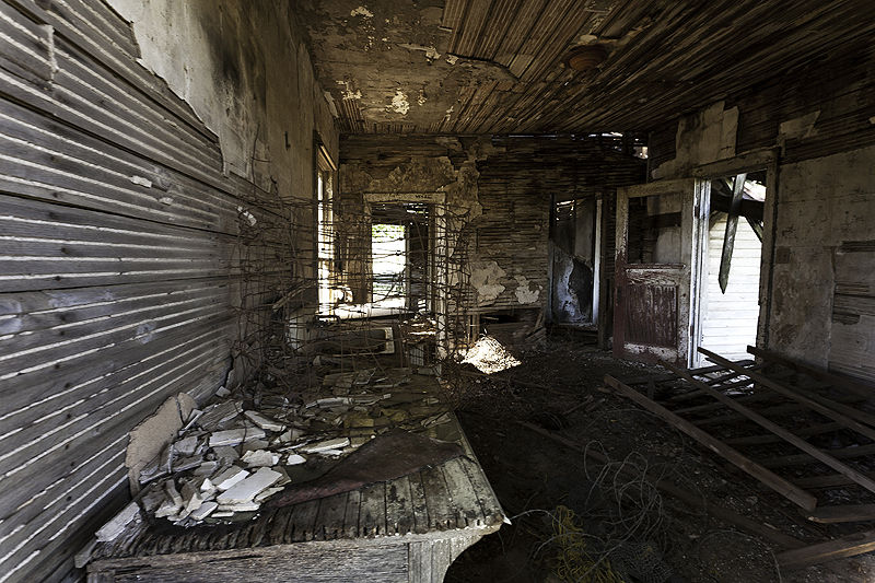 kitchen of abandoned house