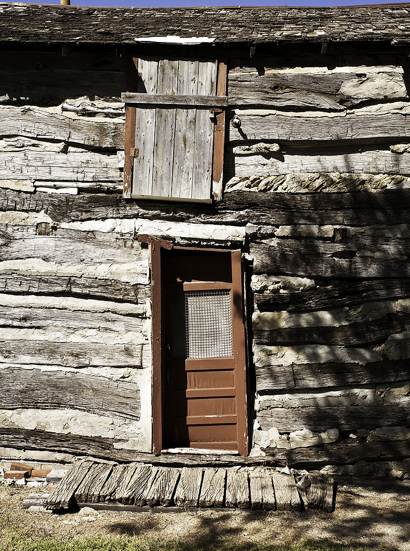 old log building in abilene kansas