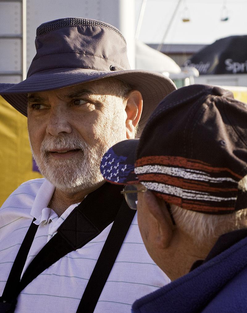 men talking at the kansas state fair