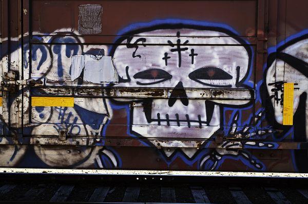 graffiti on box car