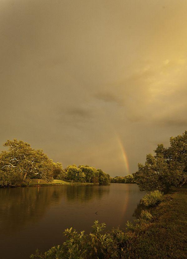 rainbow reflected