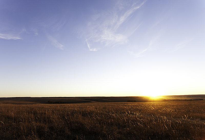 sunset over the tallgrass prairie