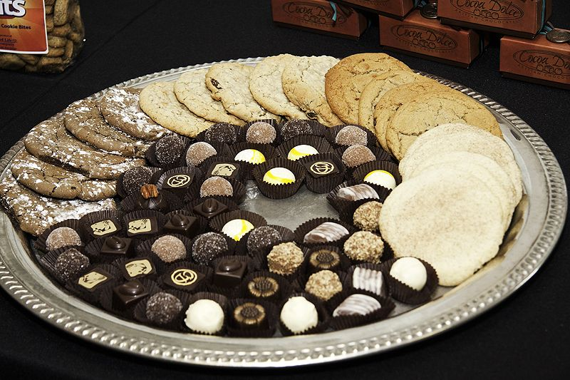 chocolate truffles and cookies