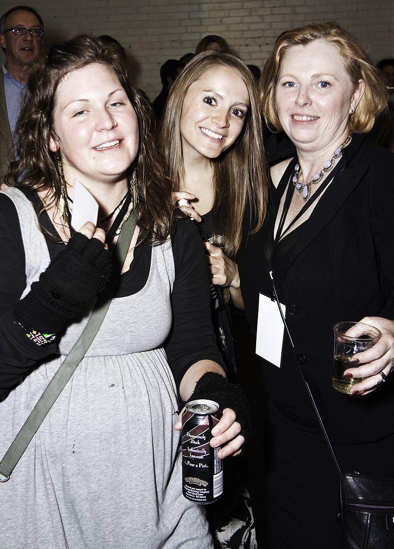 three women at tallgrass party