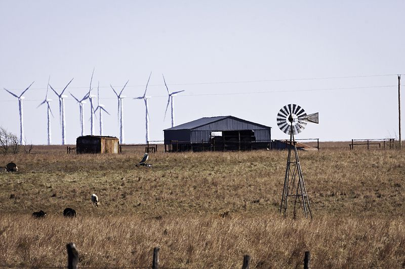 windmills of mixed ages