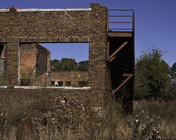 latham high school ruins and water tower