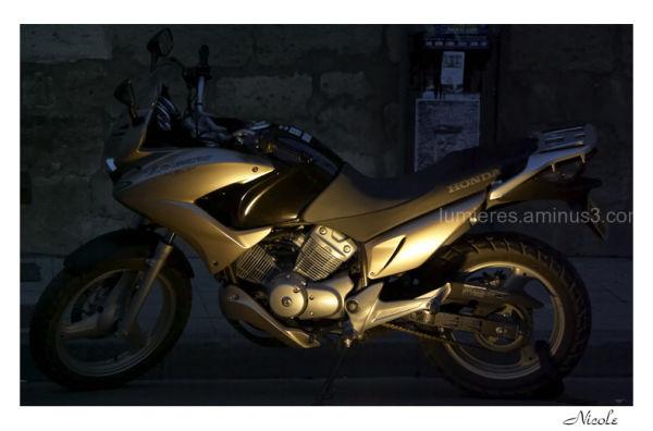 Moto de nuit (Arles juillet 2008)