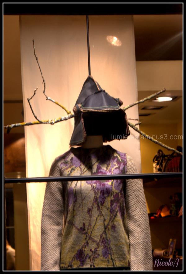 Vitrine de mode à Paris ...(Galerie Vivienne)