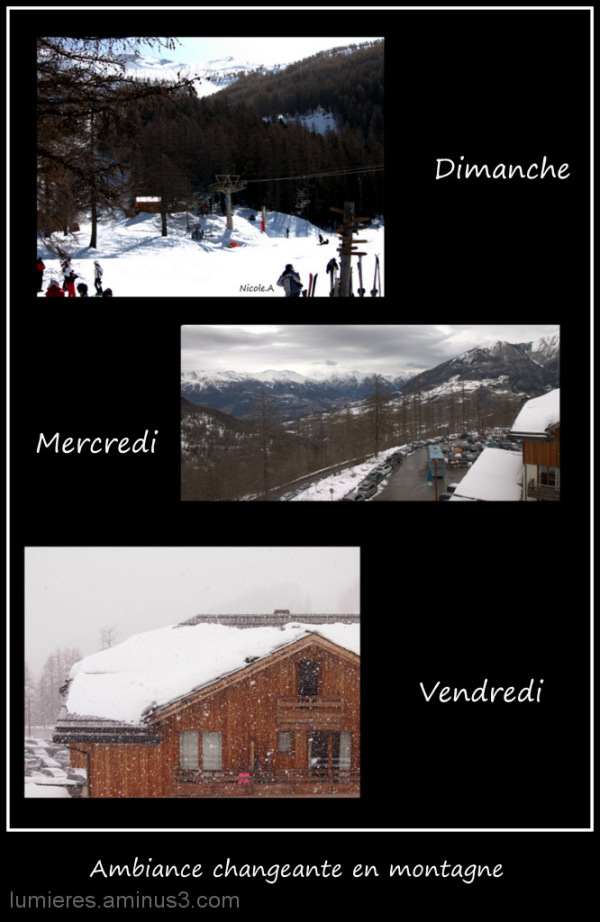 Ambiance montagne....