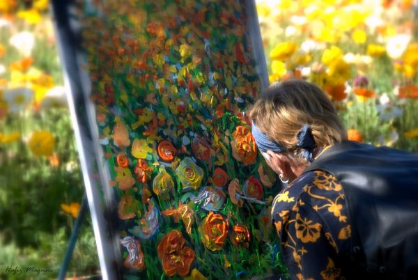 An artist at floriade