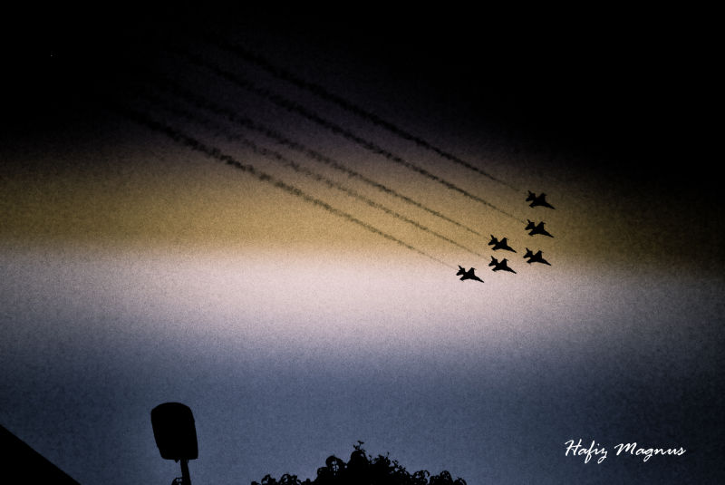 aeroplanes flying by