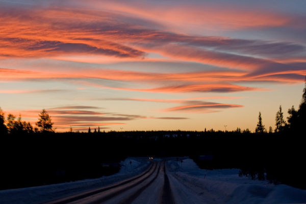 Sunset in Lapland