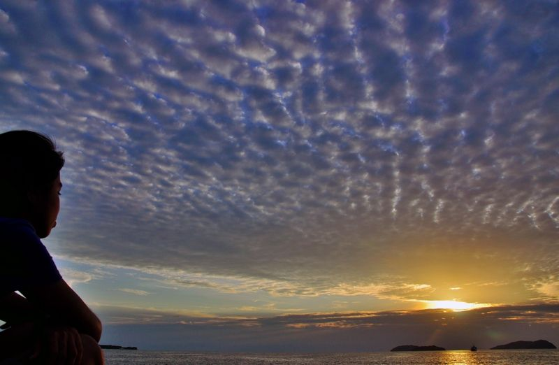october sunset in kota kinabalu